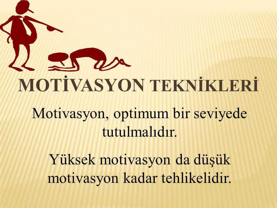 MOTİVASYON TEKNİKLERİ