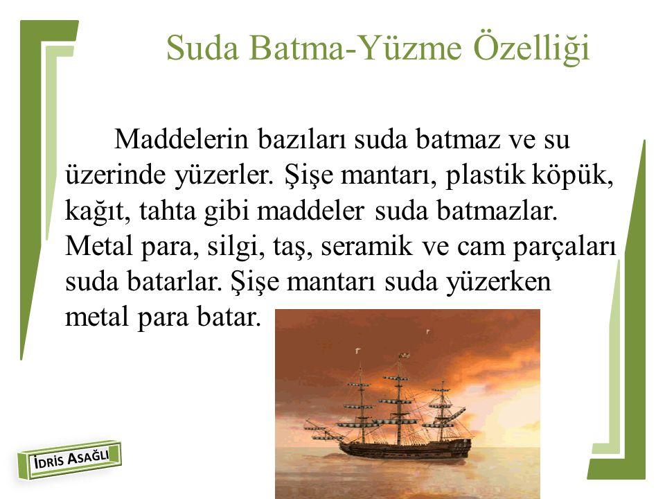Suda Batma-Yüzme Özelliği