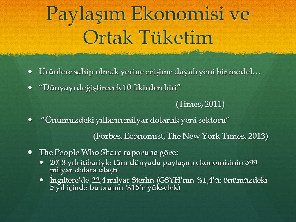 Paylaşım Ekonomisi ve Ortak Tüketim