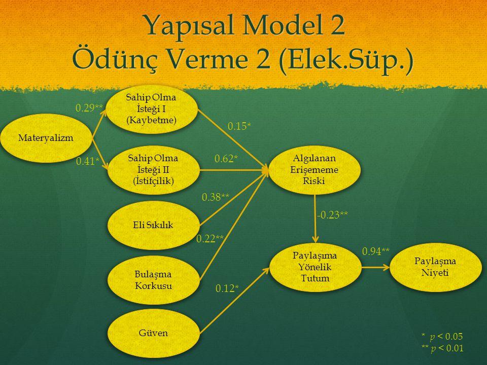 Yapısal Model 2 Ödünç Verme 2 (Elek.Süp.)