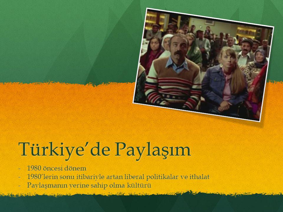 Türkiye'de Paylaşım 1980 öncesi dönem