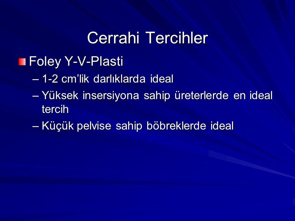 Cerrahi Tercihler Foley Y-V-Plasti 1-2 cm'lik darlıklarda ideal