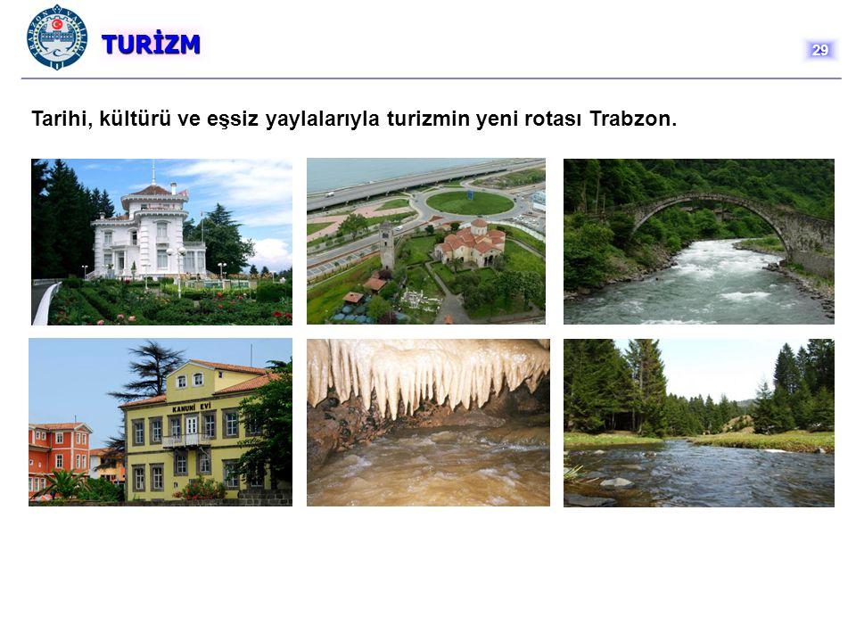 TURİZM 29 Tarihi, kültürü ve eşsiz yaylalarıyla turizmin yeni rotası Trabzon.