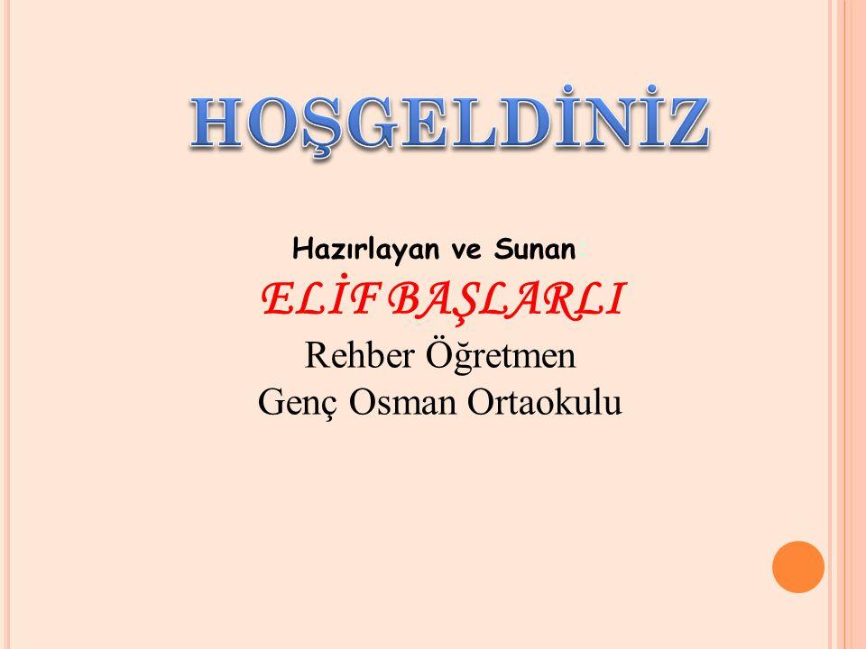 HOŞGELDİNİZ ELİF BAŞLARLI Rehber Öğretmen Genç Osman Ortaokulu