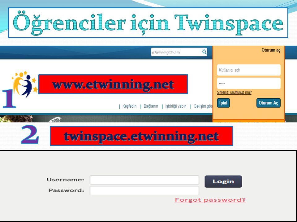 Öğrenciler için Twinspace