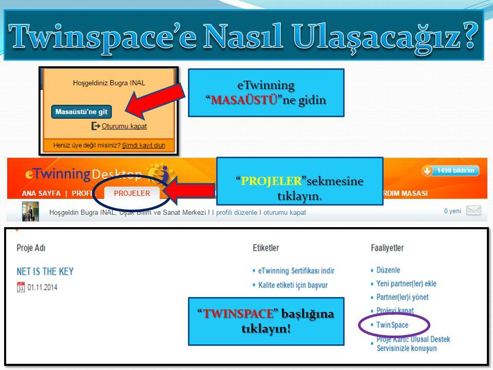 Twinspace'e Nasıl Ulaşacağız TWINSPACE başlığına tıklayın!