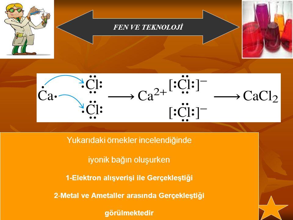 1-Elektron alışverişi ile Gerçekleştiği