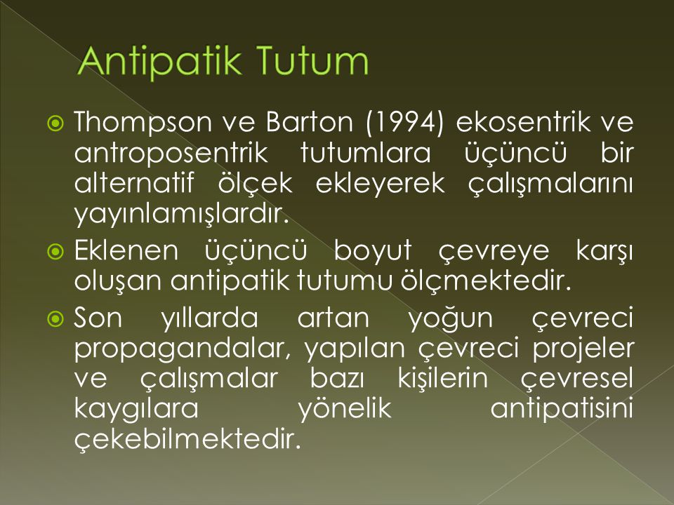 Antipatik Tutum