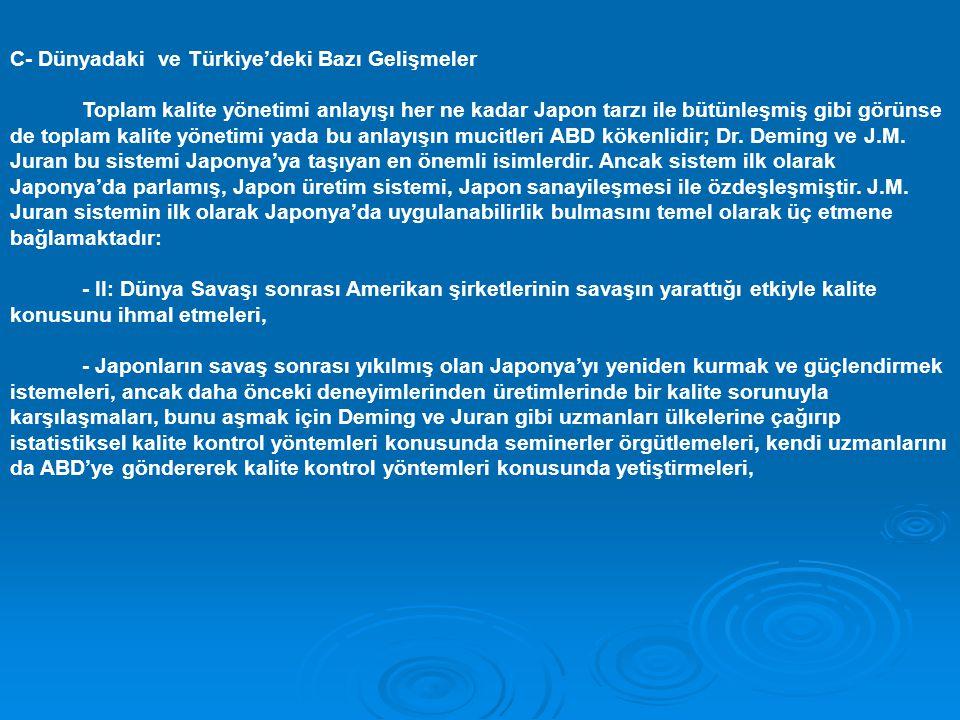 C- Dünyadaki ve Türkiye'deki Bazı Gelişmeler