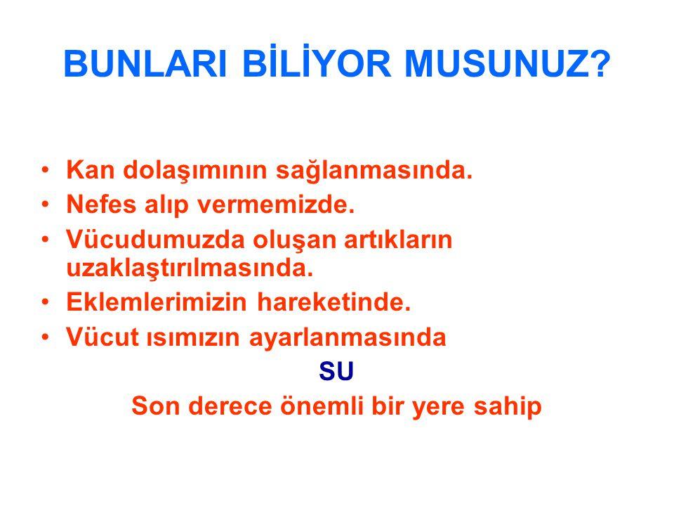 BUNLARI BİLİYOR MUSUNUZ
