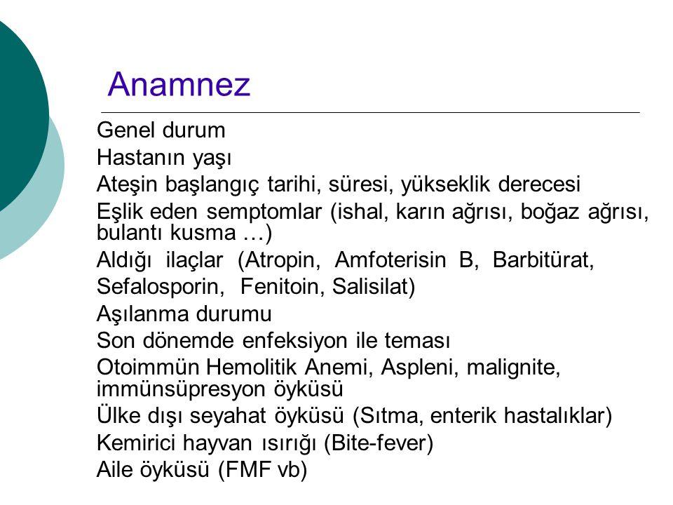 Anamnez Genel durum Hastanın yaşı