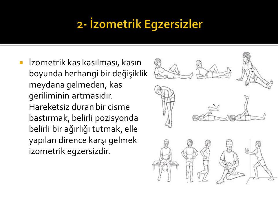 2- İzometrik Egzersizler