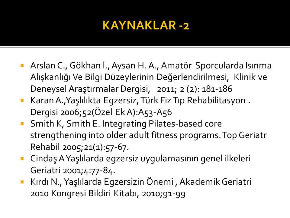 KAYNAKLAR -2