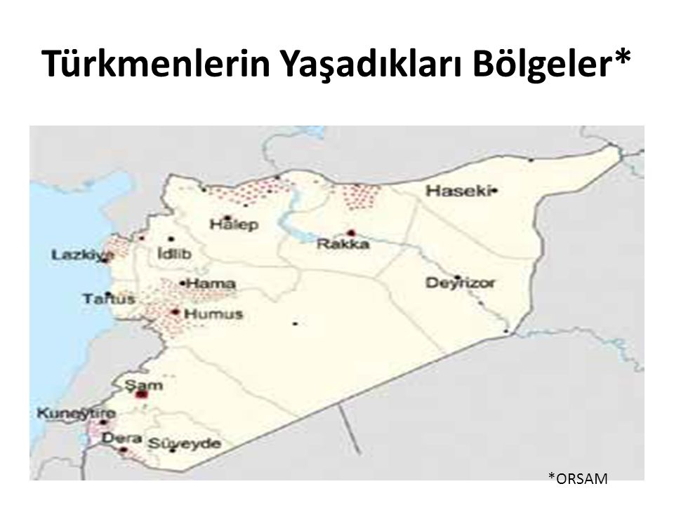 Türkmenlerin Yaşadıkları Bölgeler*