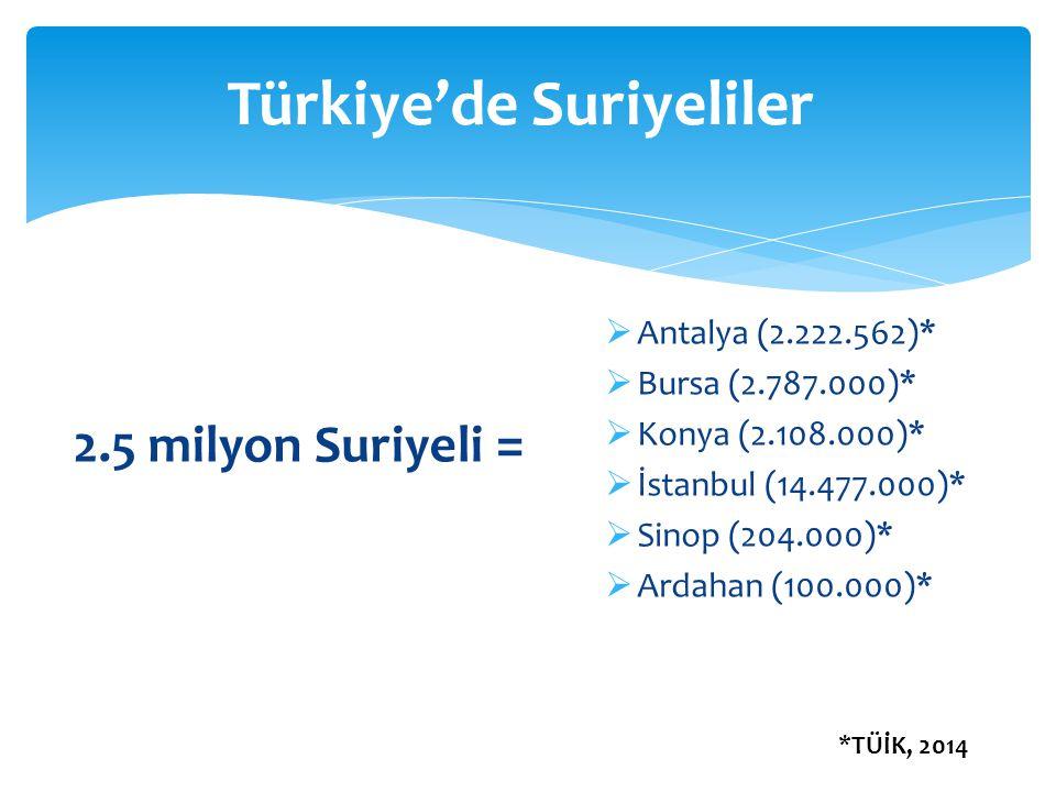Türkiye'de Suriyeliler