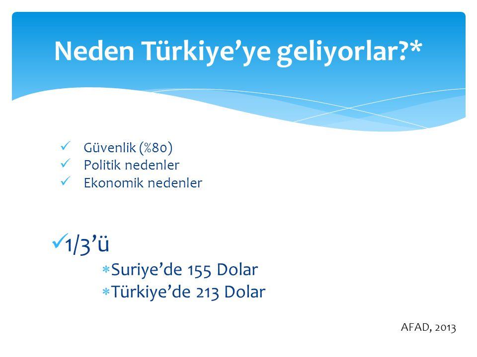 Neden Türkiye'ye geliyorlar *