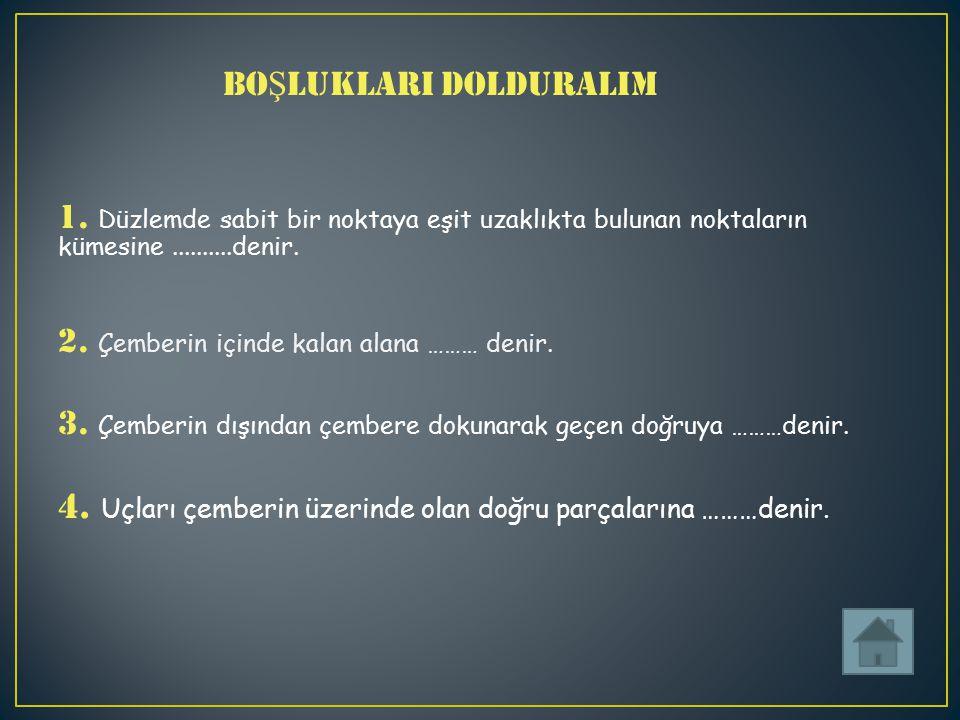 BOŞLUKLARI DOLDURALIM 1