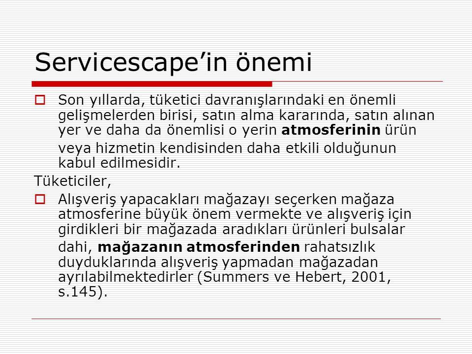 Servicescape'in önemi