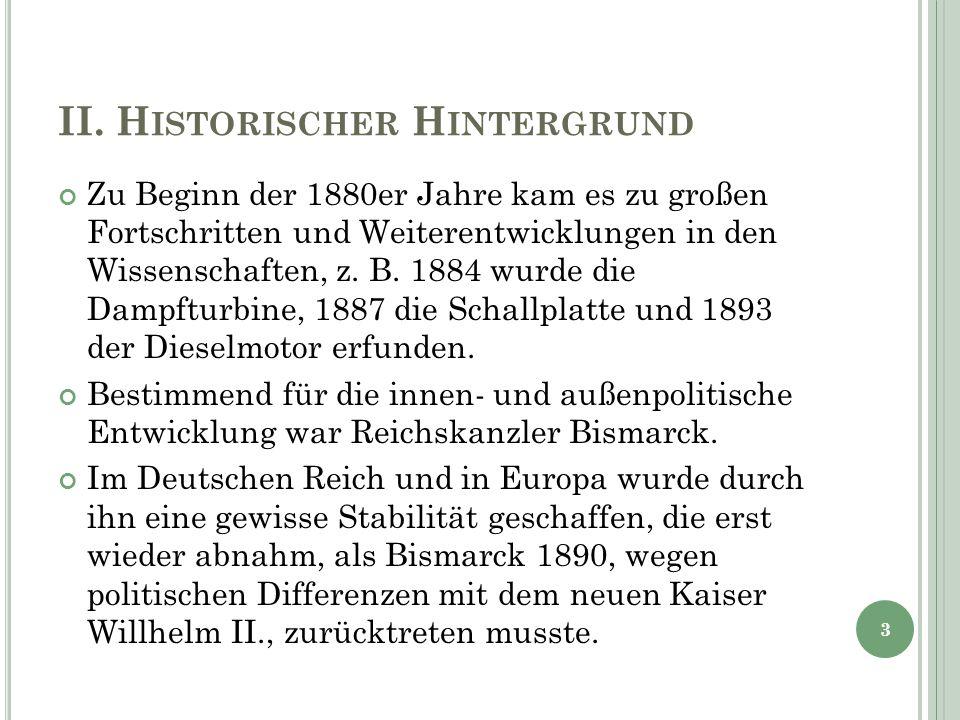 II. Historischer Hintergrund
