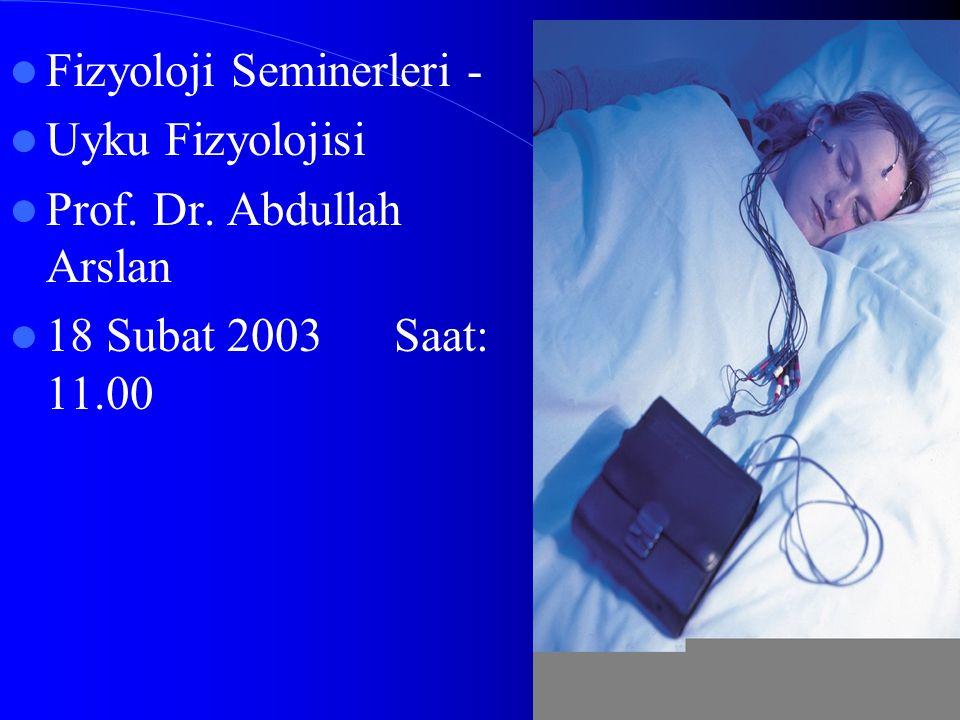 Fizyoloji Seminerleri -