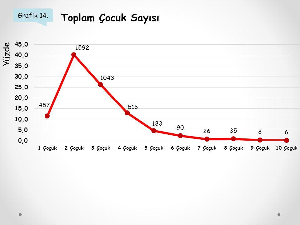 Grafik 14. Toplam Çocuk Sayısı Yüzde