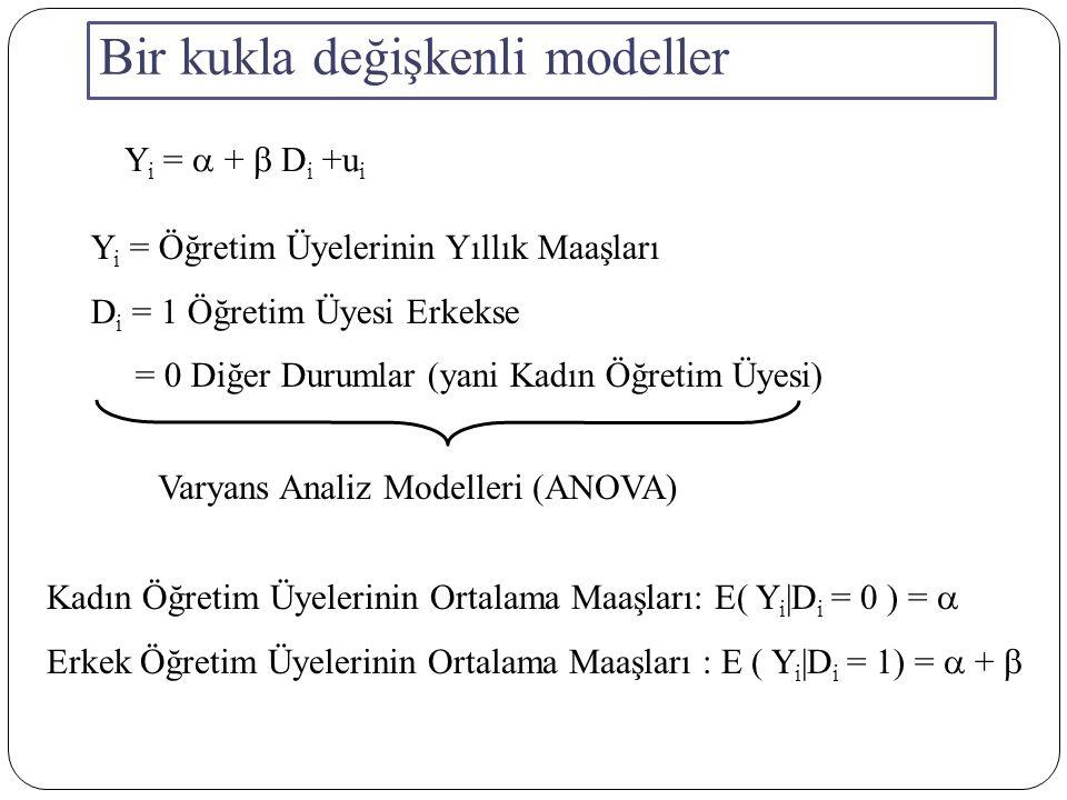 Bir kukla değişkenli modeller