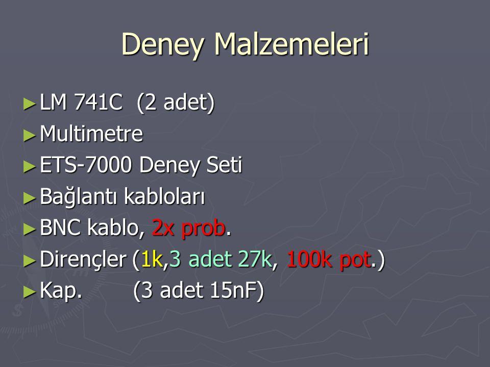 Deney Malzemeleri LM 741C (2 adet) Multimetre ETS-7000 Deney Seti