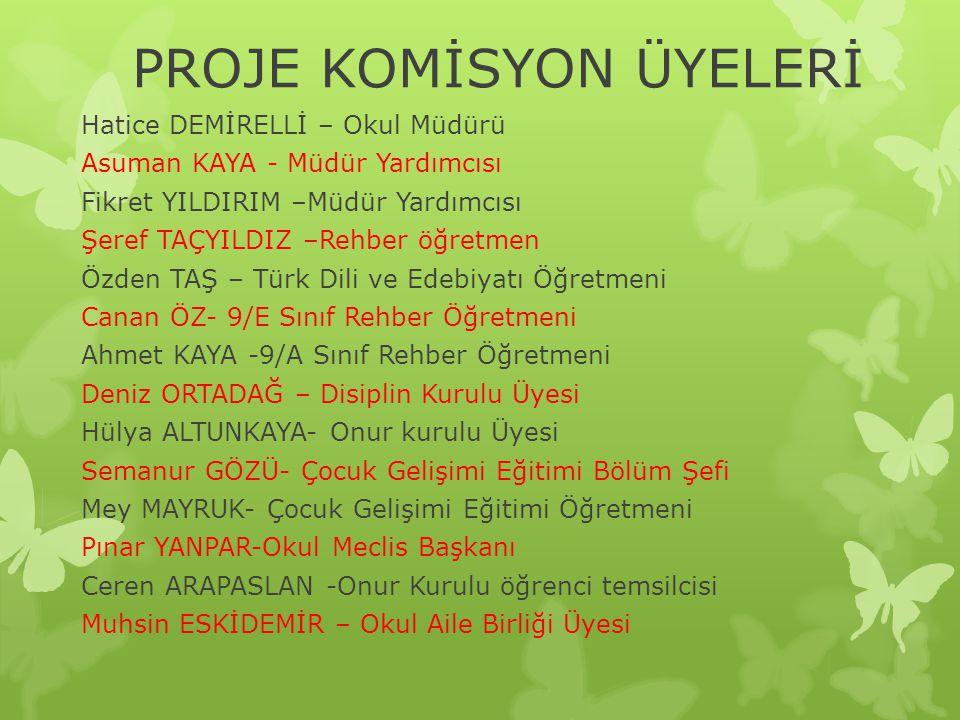 PROJE KOMİSYON ÜYELERİ