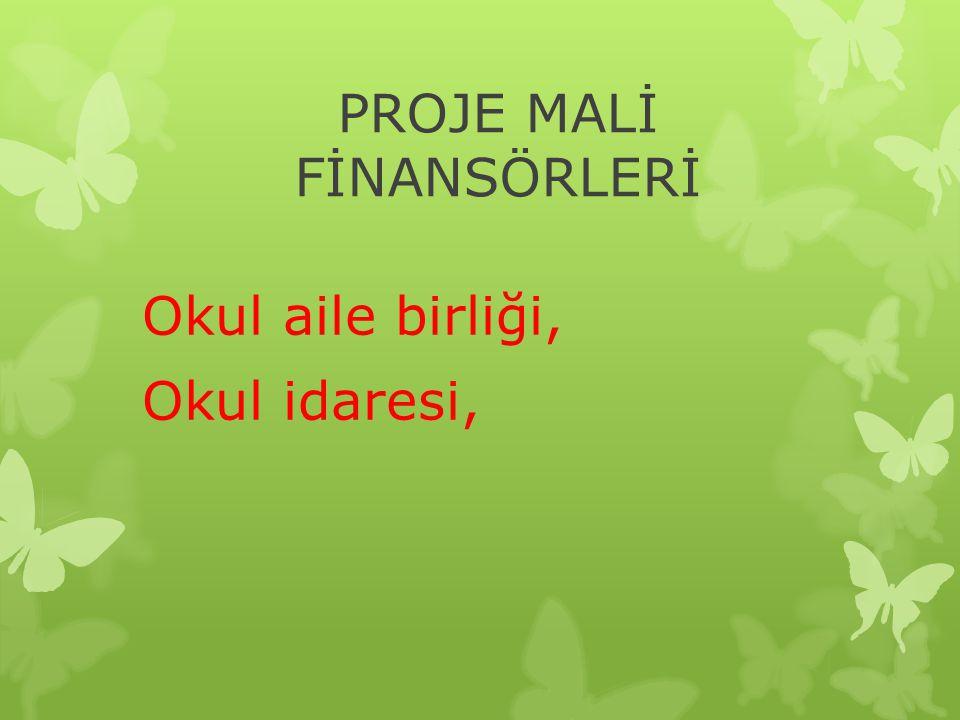 PROJE MALİ FİNANSÖRLERİ