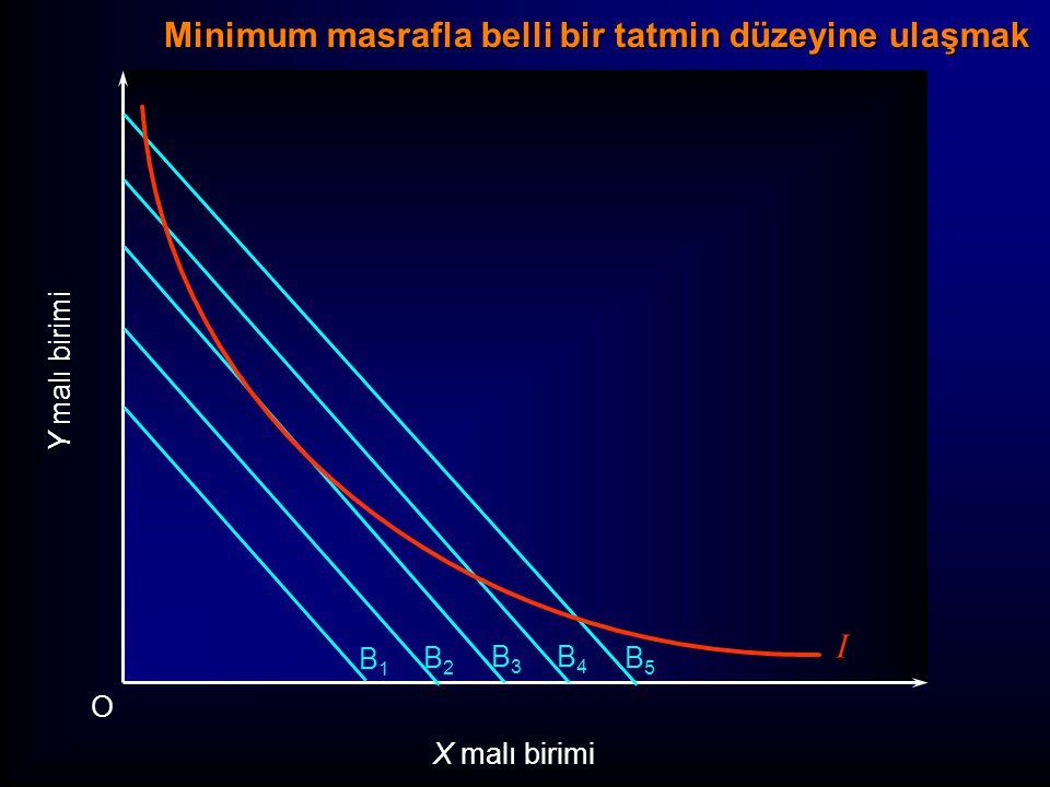 Minimum masrafla belli bir tatmin düzeyine ulaşmak