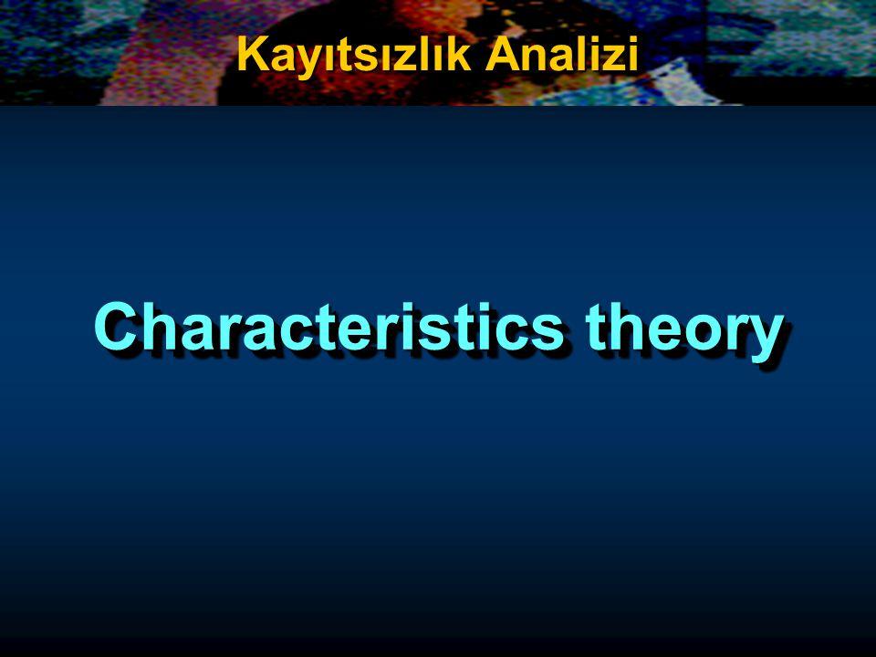 Characteristics theory