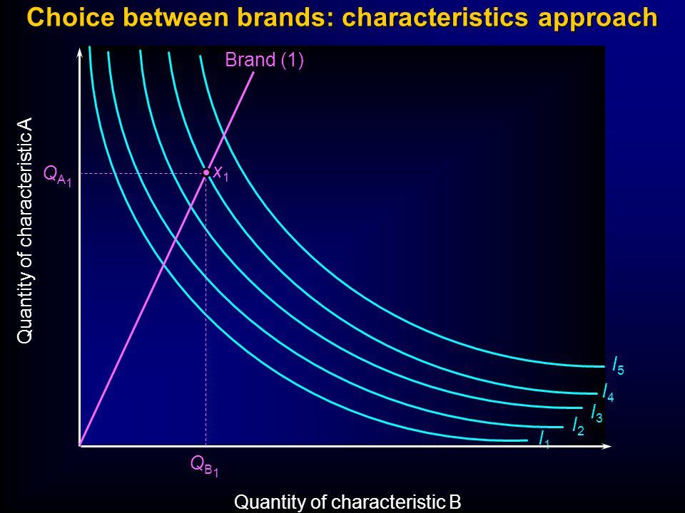 Choice between brands: characteristics approach