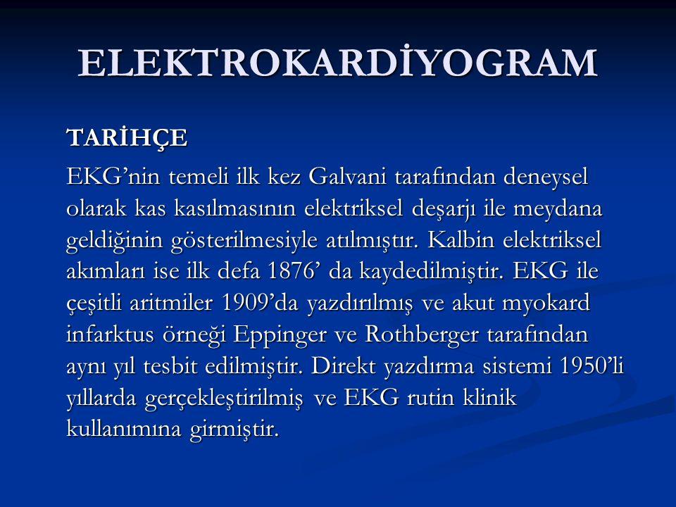 ELEKTROKARDİYOGRAM TARİHÇE