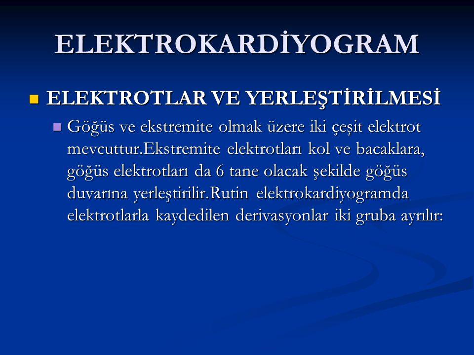 ELEKTROKARDİYOGRAM ELEKTROTLAR VE YERLEŞTİRİLMESİ