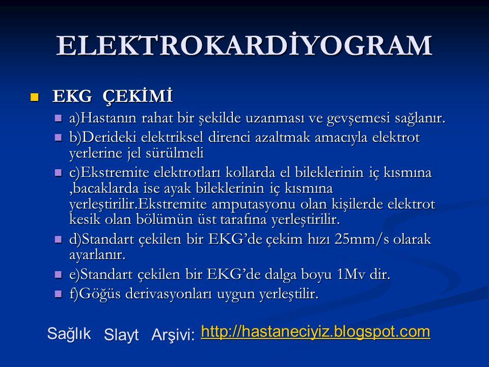 ELEKTROKARDİYOGRAM EKG ÇEKİMİ