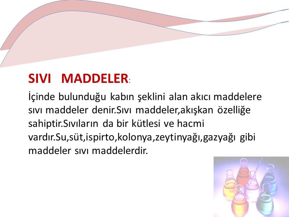 SIVI MADDELER: