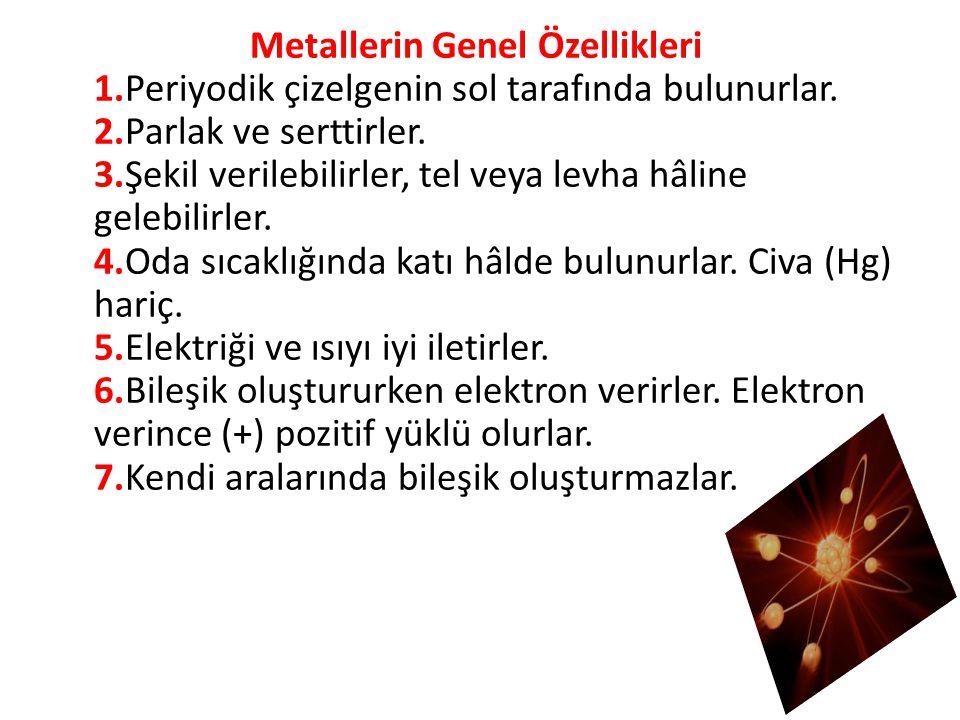 Metallerin Genel Özellikleri 1