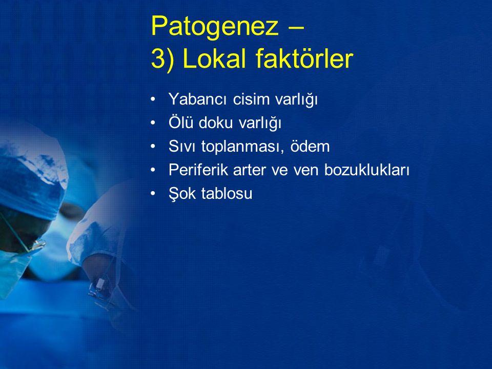 Patogenez – 3) Lokal faktörler