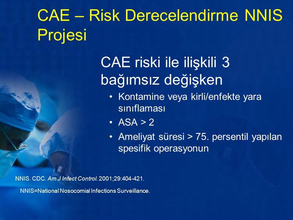 CAE – Risk Derecelendirme NNIS Projesi