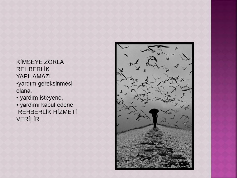KİMSEYE ZORLA REHBERLİK YAPILAMAZ!