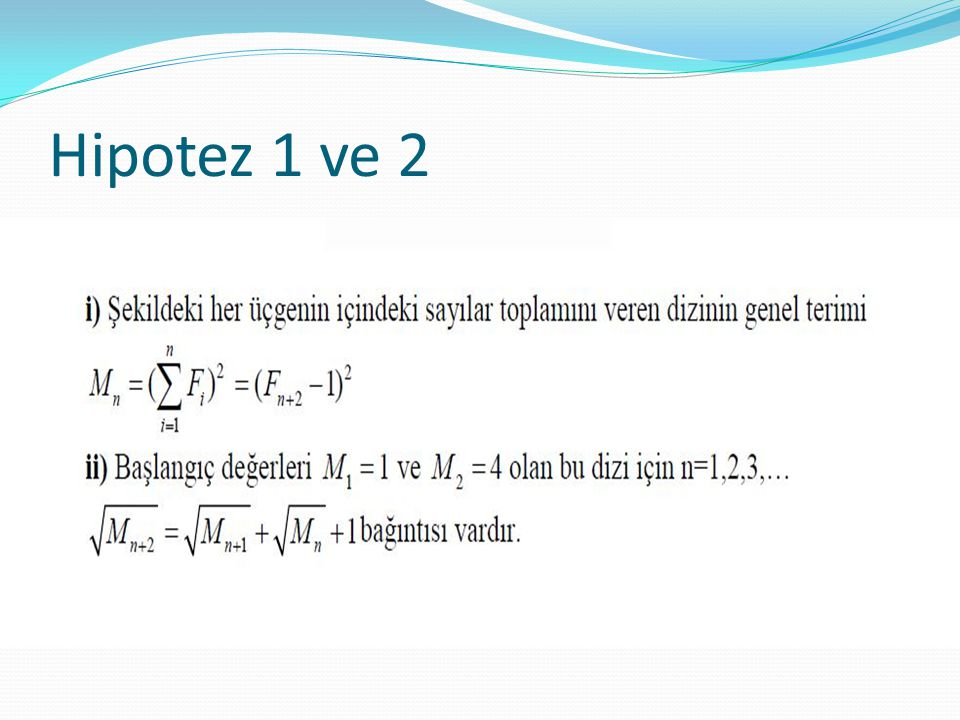 Hipotez 1 ve 2