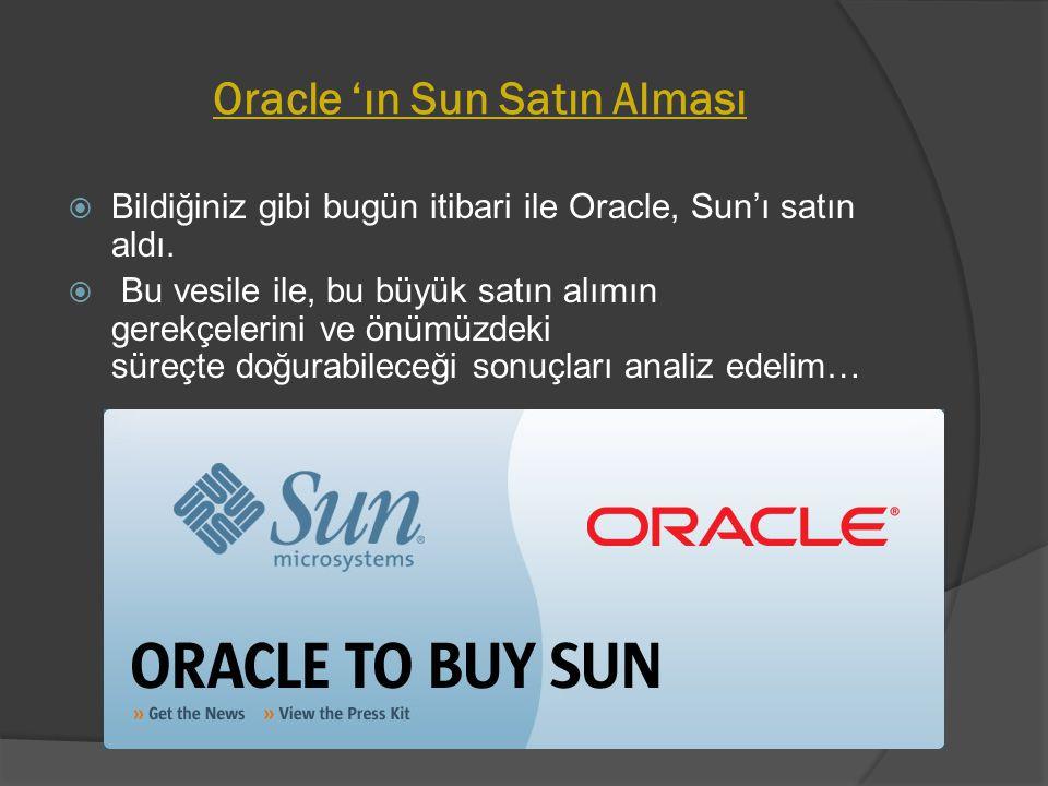 Oracle 'ın Sun Satın Alması