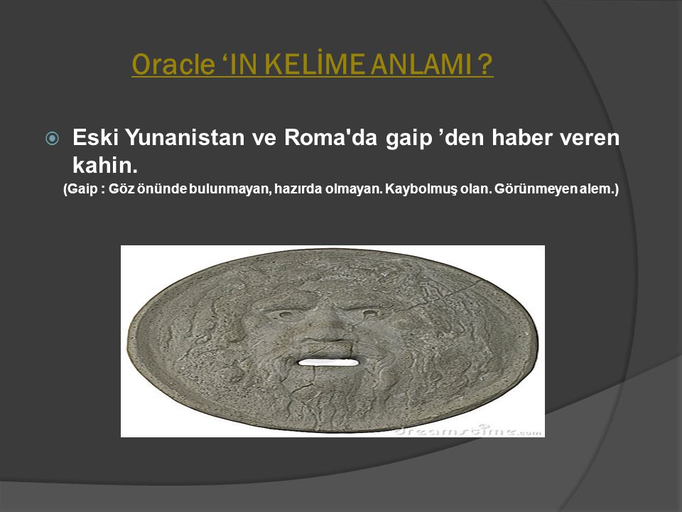 Oracle 'IN KELİME ANLAMI