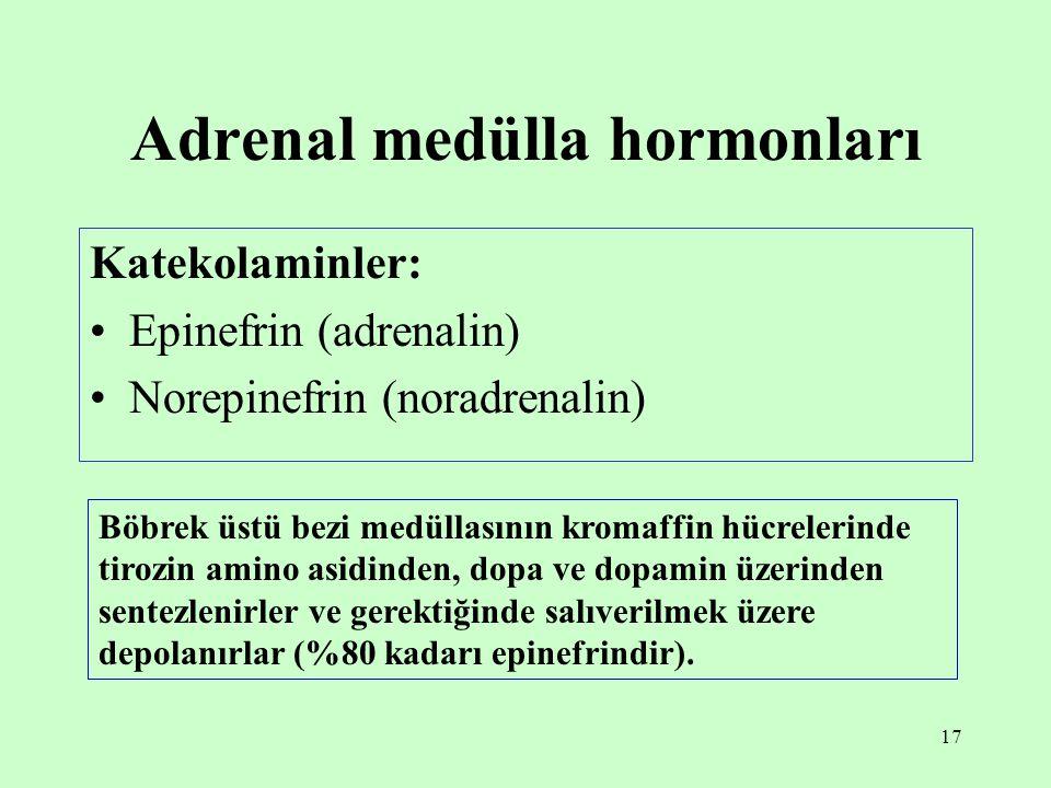 Adrenal medülla hormonları