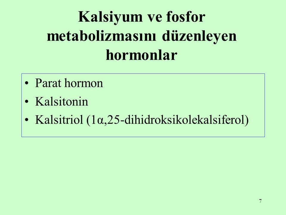Kalsiyum ve fosfor metabolizmasını düzenleyen hormonlar