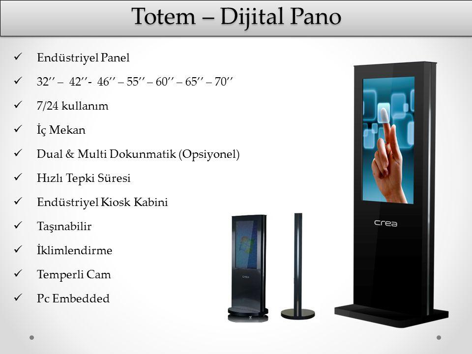 Totem – Dijital Pano Endüstriyel Panel