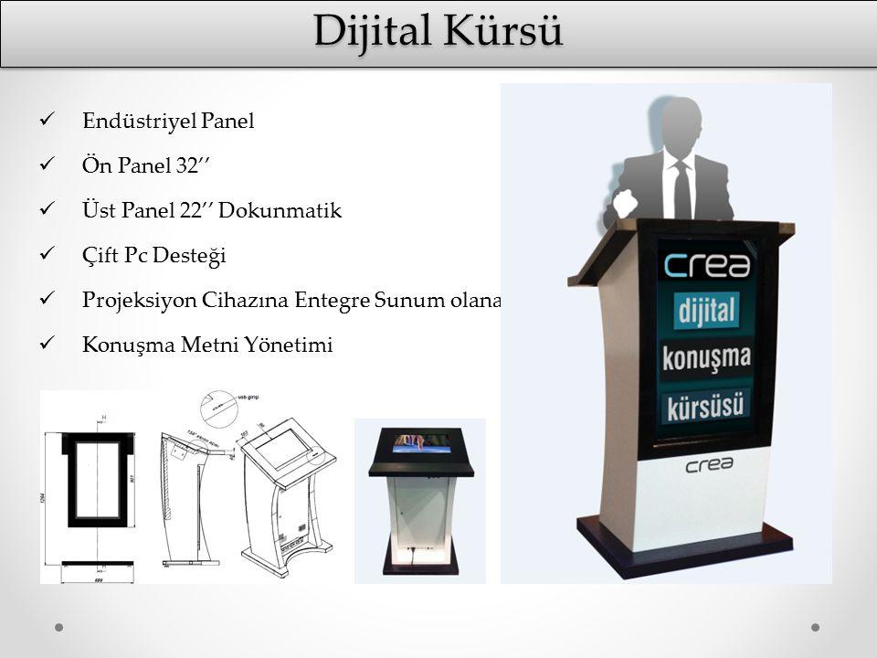 Dijital Kürsü Endüstriyel Panel Ön Panel 32''