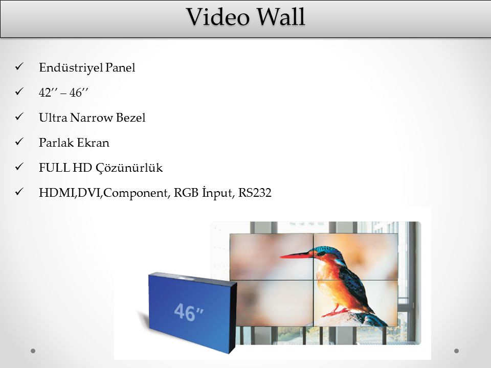 Video Wall Endüstriyel Panel 42'' – 46'' Ultra Narrow Bezel