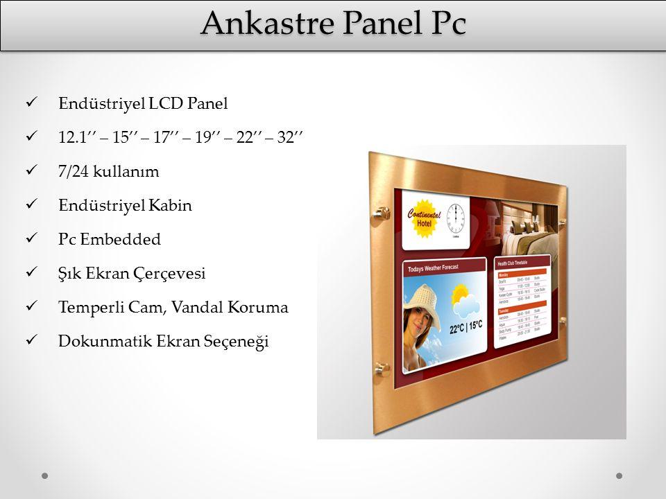Ankastre Panel Pc Endüstriyel LCD Panel