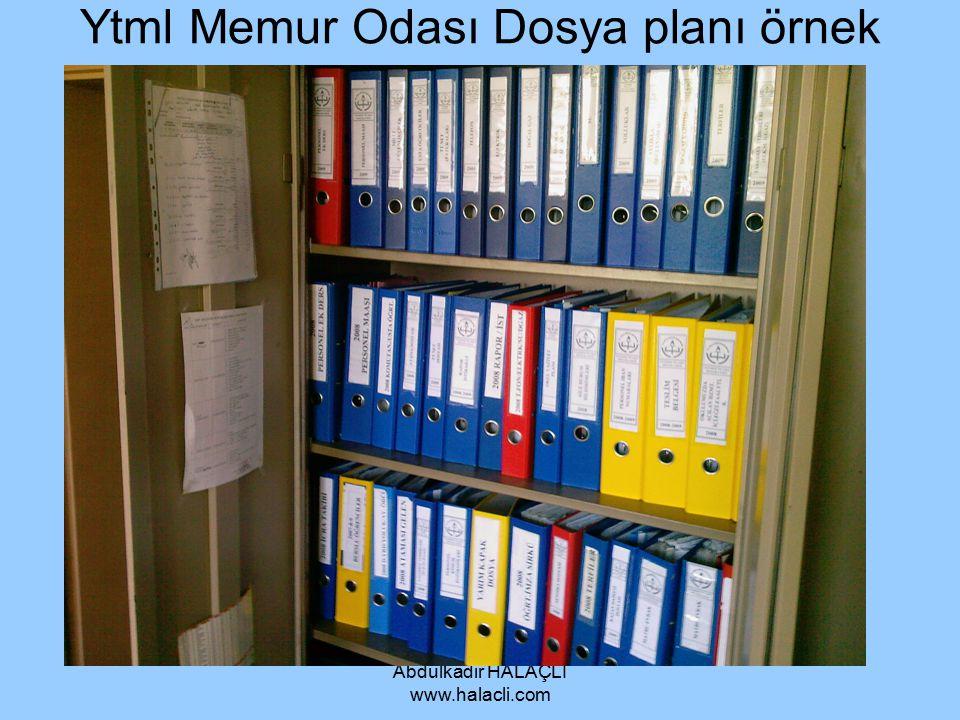 Ytml Memur Odası Dosya planı örnek